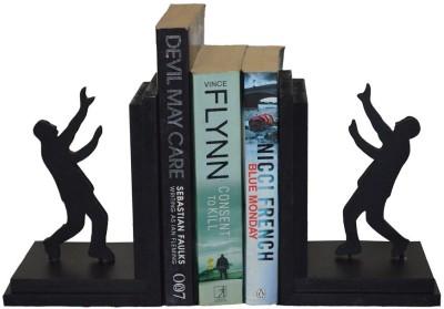 Karigaari Wooden Book End(Black, Pack of 1)