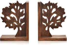 ExclusiveLane Wooden Book End(Brown, Pack of 2)