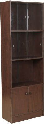 HomeTown Crony Engineered Wood Semi-Open Book Shelf(Finish Color - Brown)