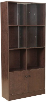 HomeTown Crony Bookshelf Large Engineered Wood Semi-Open Book Shelf