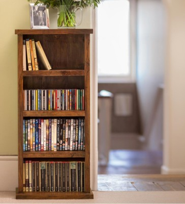 HomeEdge Solid Wood Open Book Shelf(Finish Color - PROVINCIAL TEAK)
