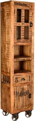 Rishabh Art Solid Wood Semi-Open Book Shelf