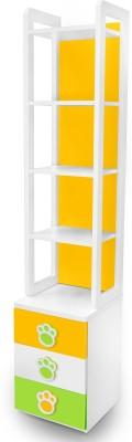 Alex Daisy Panda Engineered Wood Semi-Open Book Shelf