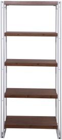 Evok Essen Engineered Wood Open Book Shelf(Finish Color - White +Walnut)