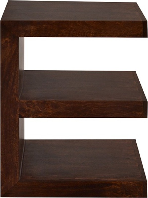 Jivan Solid Wood Open Book Shelf(Finish Color - Walnut Brown)