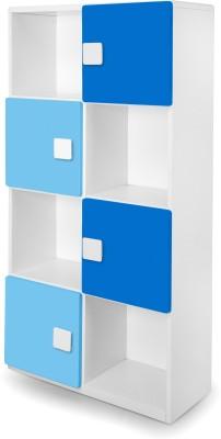 Alex Daisy Universal Engineered Wood Semi-Open Book Shelf(Finish Color - Blue & White) at flipkart