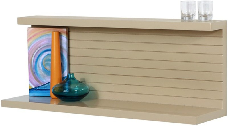 Lekiaan Engineered Wood Open Book Shelf(Finish Color - Sandstone)