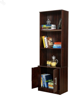 Royal Oak Pluto Engineered Wood Semi-Open Book Shelf(Finish Color - Honey Brown)