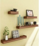 Onlineshoppee Solid Wood Open Book Shelf...