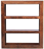 Jivan Solid Wood Open Book Shelf (Finish...