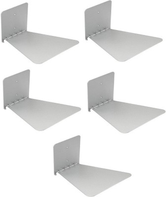 Solid Set Of Five Invisible Room Decorative Bookcase Holder Hidden Rack Floating Creative Decor Wall Mount Metal Open Book Shelf