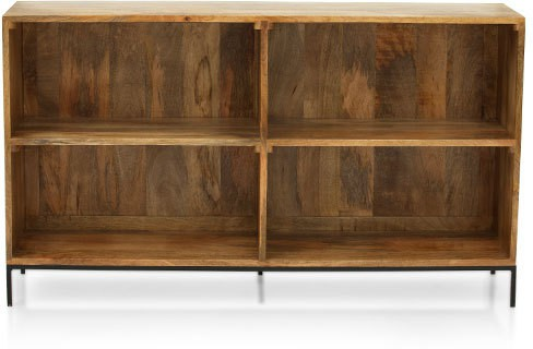 View TheArmchair Modular Solid Wood Open Book Shelf(Finish Color - Natural) Furniture (TheArmChair)