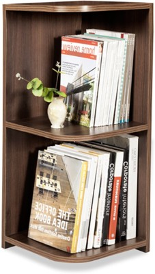 Debono Jolly Corner Book Rack with Three shelves Engineered Wood Open Book Shelf
