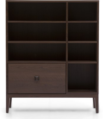 Urban Ladder Eastwood Engineered Wood Open Book Shelf(Finish Color - Walnut)
