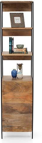 View TheArmchair Modular Solid Wood Semi-Open Book Shelf(Finish Color - Natural) Furniture (TheArmChair)