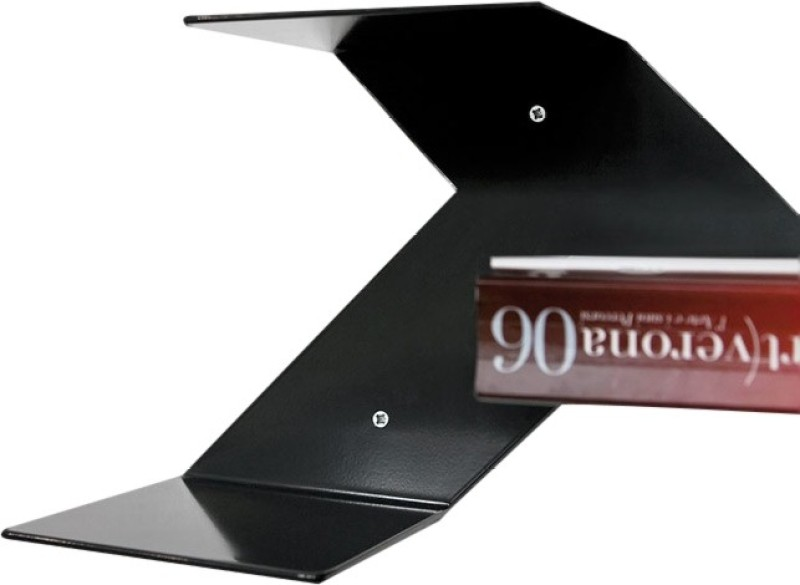CBM Metal Open Book Shelf(Finish Color - Black)