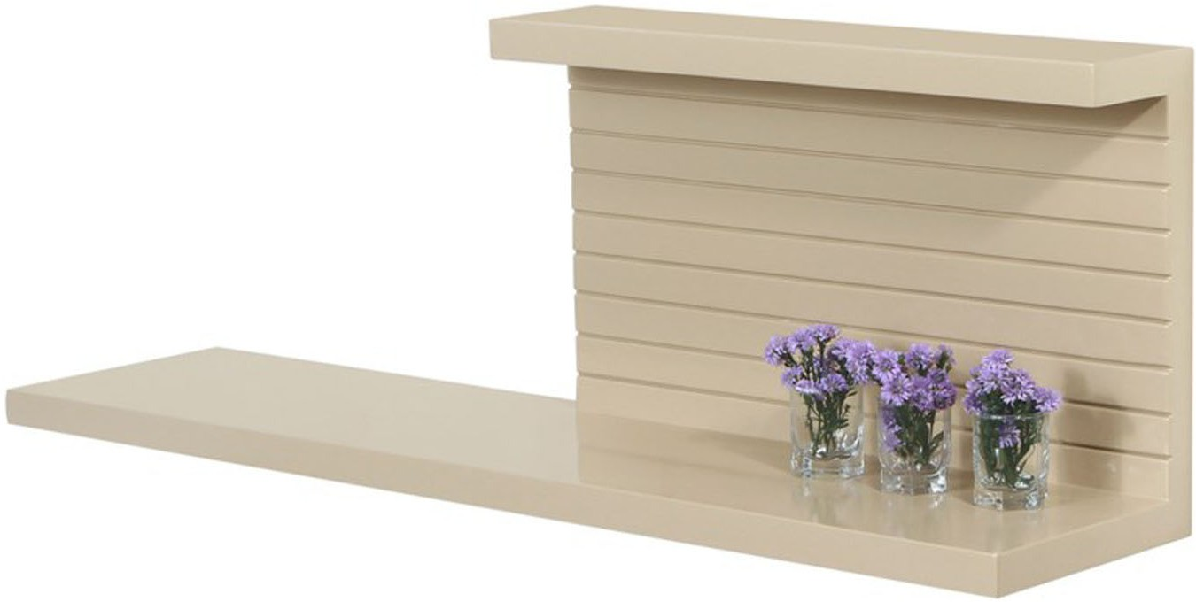View Lekiaan Engineered Wood Open Book Shelf(Finish Color - Sandstone) Furniture