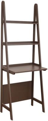 HomeTown Compact Study Desk Brown Engineered Wood Open Book Shelf