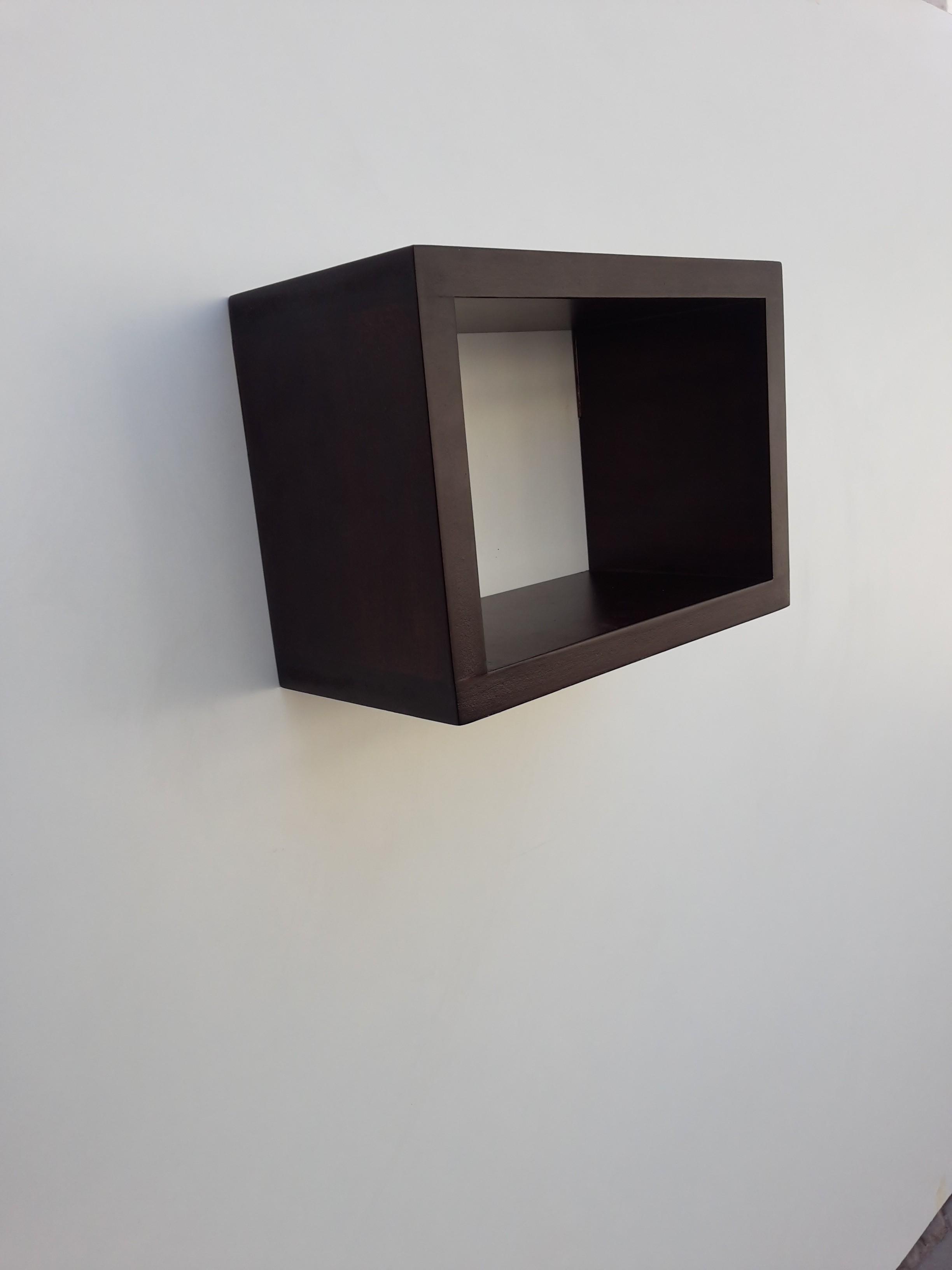 View Le Modulor Solid Wood Open Book Shelf(Finish Color - Dark Brown) Furniture (Le Modulor)