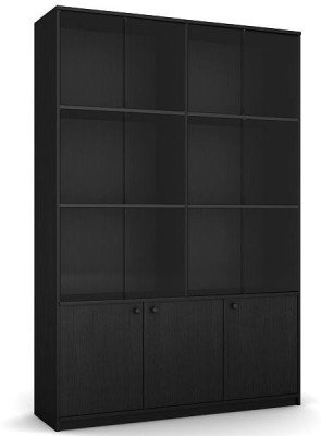 Housefull Engineered Wood Open Book Shelf(Finish Color - Black)