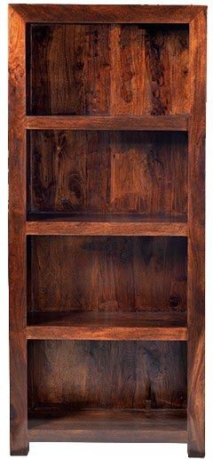 View Jivan Solid Wood Open Book Shelf(Finish Color - Walnut Brown) Furniture