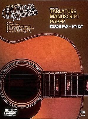Guitar : guitar tablature manuscript paper Guitar Tablature also ...