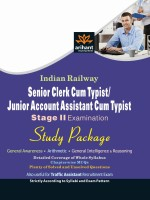 Indian Railway Senior Clerk Cum Typist/Junior Account Assistant Cum Typist Stage-2 Examination Study Package price comparison at Flipkart, Amazon, Crossword, Uread, Bookadda, Landmark, Homeshop18
