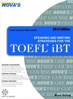Speaking And Writing Strategies For The TOEFL iBT price comparison at Flipkart, Amazon, Crossword, Uread, Bookadda, Landmark, Homeshop18