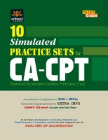10 Simulated Practice Sets for CA-CPT Chartered Accountant-Common Proficiency Test price comparison at Flipkart, Amazon, Crossword, Uread, Bookadda, Landmark, Homeshop18