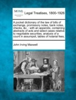 A pocket dictionary of the law of bills of exchange, promissory notes, bank notes, checks, &c. : with an appendix, containing abstracts of acts and se best price on Flipkart @ Rs. 1867