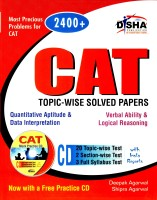CAT Topic-Wise Solved Papers (With CD) price comparison at Flipkart, Amazon, Crossword, Uread, Bookadda, Landmark, Homeshop18