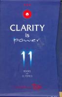 Clarity Is Power 11 Books On 11 Topics (English) price comparison at Flipkart, Amazon, Crossword, Uread, Bookadda, Landmark, Homeshop18