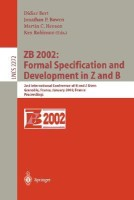 Zb 2002: Formal Specification and Development in Z and B: 2nd International Conference of B and Z Users Grenoble, France, January 23-25, 2002, Proceed 1st Edition price comparison at Flipkart, Amazon, Crossword, Uread, Bookadda, Landmark, Homeshop18
