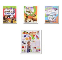 Mehta Graphics All in One Writing Practic Book with My First Board Book Of Aquatic Animals, wild Animals & Domestic Animals - Pre School Learning Book