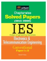 Chapterwise Solved Papers (2013-2000) IES Electronics & Telecommunication Engineering Conventional Paper I & II 3rd Edition price comparison at Flipkart, Amazon, Crossword, Uread, Bookadda, Landmark, Homeshop18