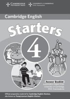 Cambridge Young Learners English Tests Starters 4 Answer Booklet Second edition Edition price comparison at Flipkart, Amazon, Crossword, Uread, Bookadda, Landmark, Homeshop18