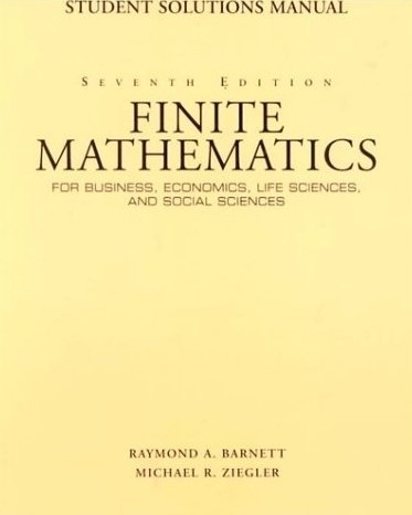 budnicks applied mathematics for business economics and social science student solution manual