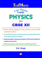 Last Minute Guide Physics for CBSE (Class - 12) price comparison at Flipkart, Amazon, Crossword, Uread, Bookadda, Landmark, Homeshop18