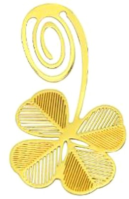 Studio Briana 10 PCS 18K Gold Plated Clover Bookmark Metal Clip Bookmark