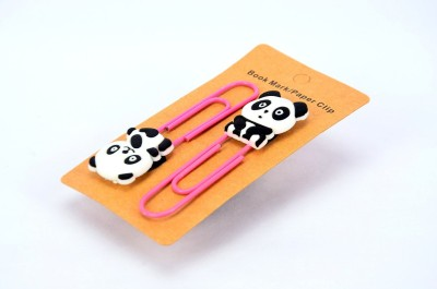 Enwraps Sitting Panda 2 pcs Metal Clip Bookmark