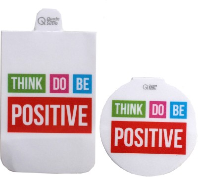 QuoteSutra Think Positive Set of 2 Magnetic Bookmark