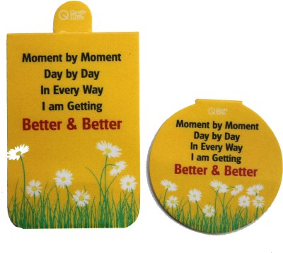 QuoteSutra Moment By Moment Affirmation Set of 2 Magnetic Bookmark
