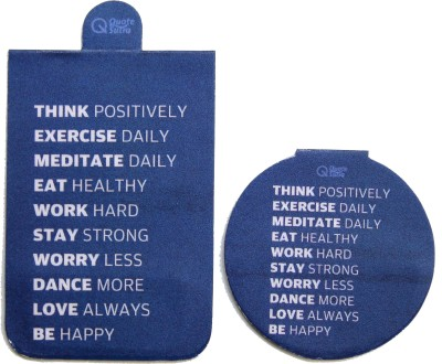 QuoteSutra Life Sutra 1 Think Positively Set of 2 Magnetic Bookmark