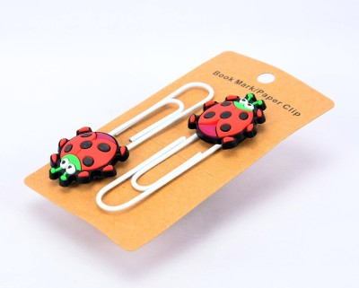Enwraps Small Ladybird 4 pcs Metal Clip Bookmark