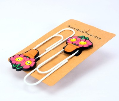 Enwraps Flower Plant 4pcs Metal Clip Bookmark