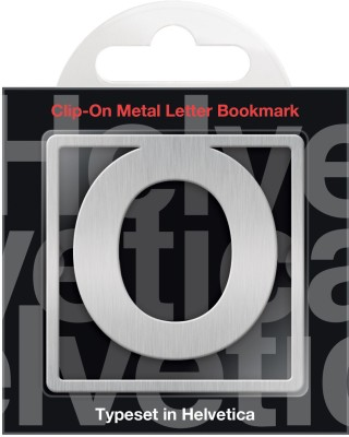 If by Chitra Helvetica Letter - O Metal Clip Bookmark