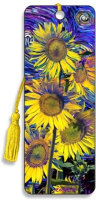Om Book Shop Sunflowers 3D Bookmark