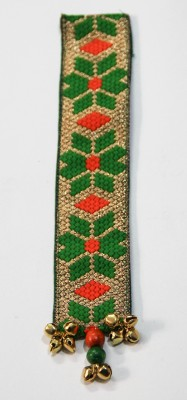 Crafty Hands Ethnic Golden Weaves Fabric Bookmark