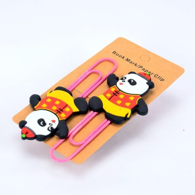 Enwraps Hello Panda 4 pcs Metal Clip Bookmark