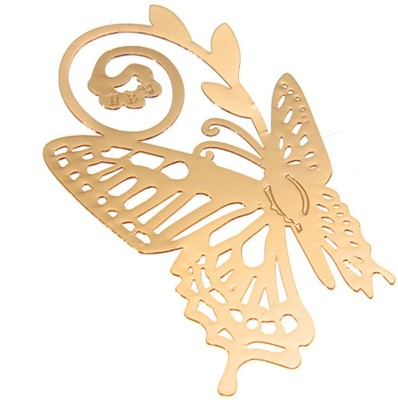 Studio Briana Golden Plated Butterfly Bookmark Metal Clip Bookmark